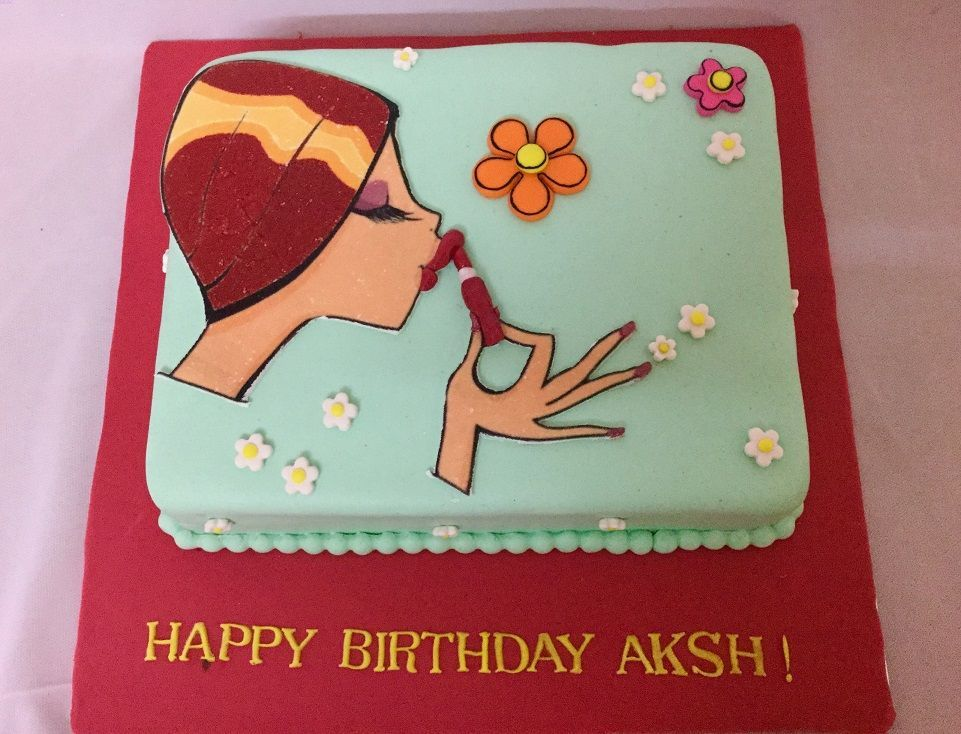 Love your Lipstick Cake Online birthday cake, Cakes for