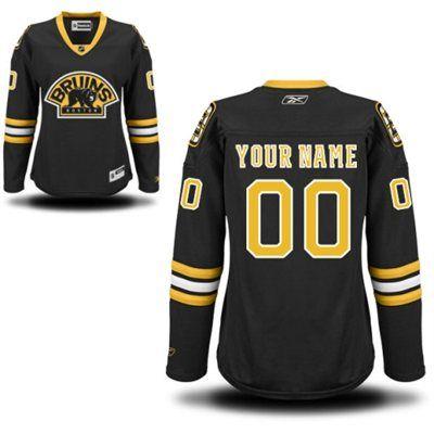 f5c0867e59d Reebok Boston Bruins Women s Premier Alternate Custom Jersey - Black ...