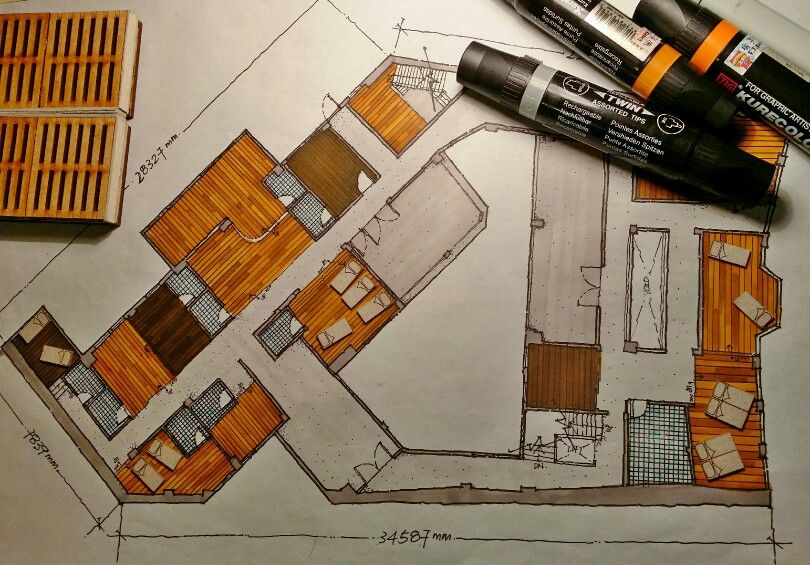 Hand Drawn Floor Plan Floor Plan Sketch Architect Drawing Plan Sketch