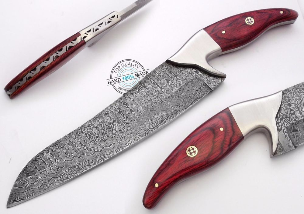 "12.00"" Custom Made Beautiful Damascus steel chef kitchen Knife (AA-0020-28)"