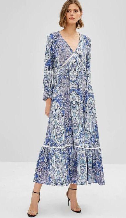 Long Sleeve Bohemian Maxi Dresses