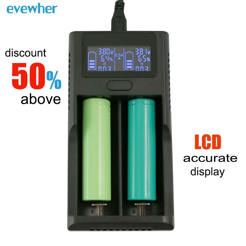 Evewher Universal Intelligent Lcd 18650 14500 26650 Lithium Battery Charger Diy Aa Aaa Li Ion Batery Ch Lithium Battery Charger Battery Charger Lithium Battery