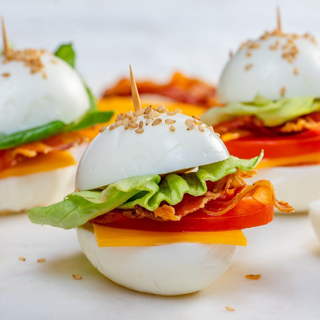 BLT Egg 'buns' #eggmeals