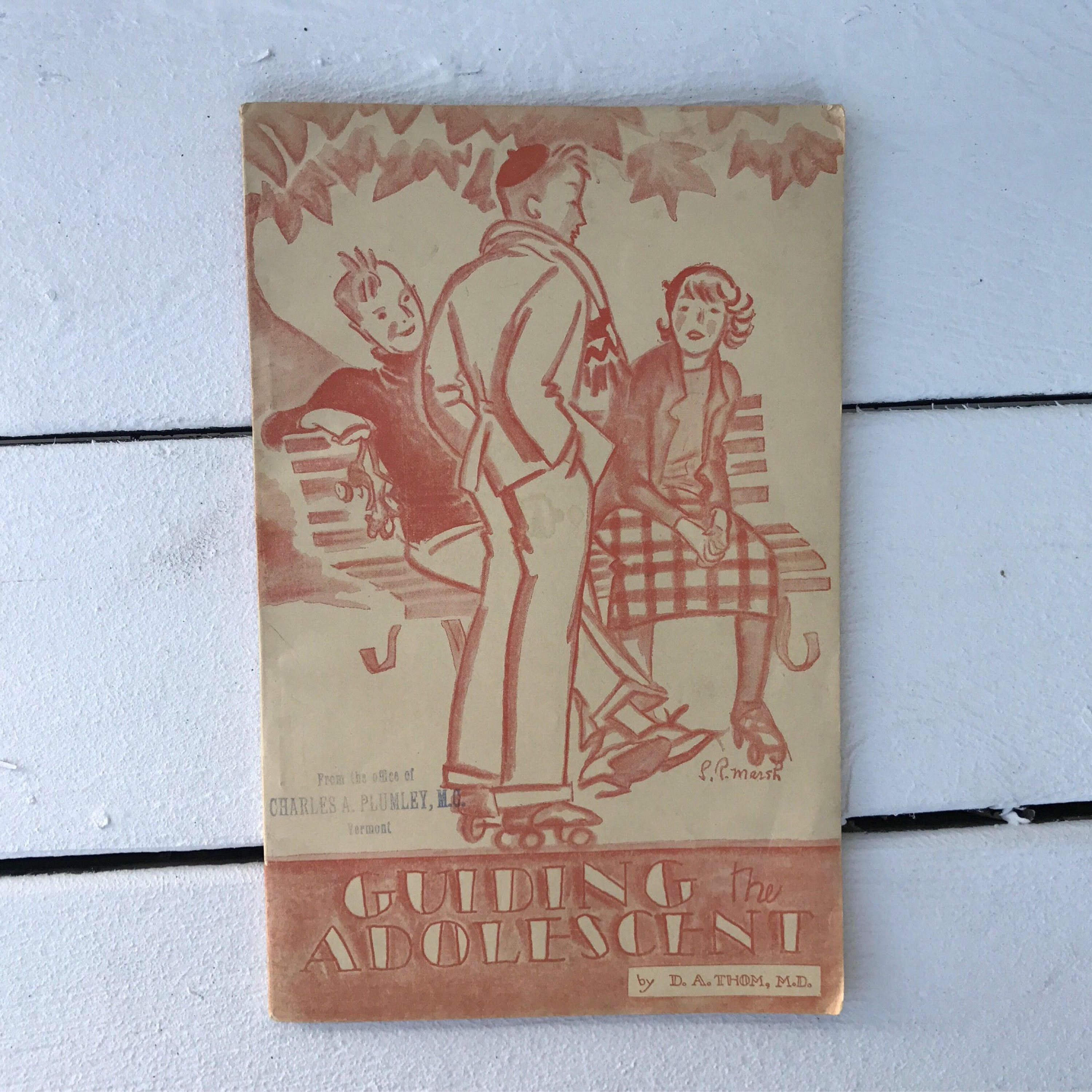 Bureau Adolescent Vintage Booklet 1933 Guiding The Adolescent Us Department Of Labor