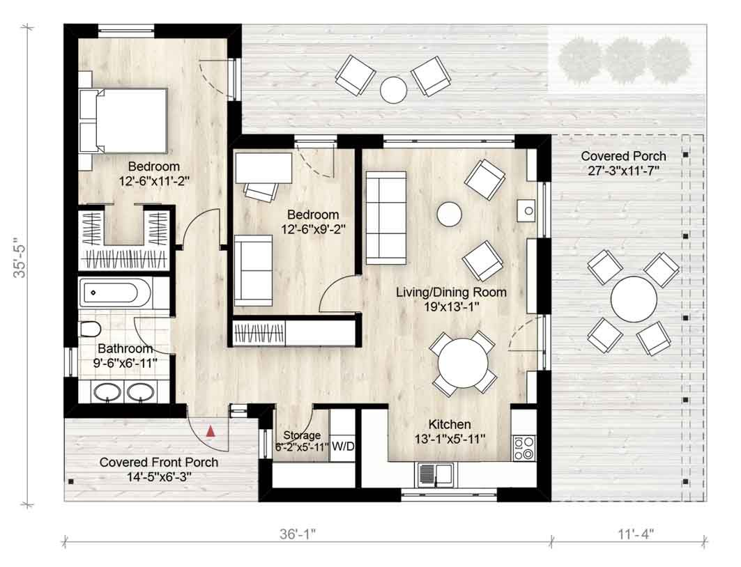 Truoba mini house plan sq ft bedrooms bathrooms also rh pinterest
