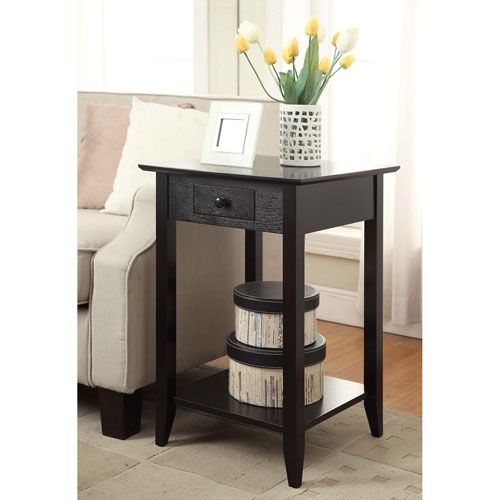 Best Convenience Concepts American Heritage Black End Table In 400 x 300