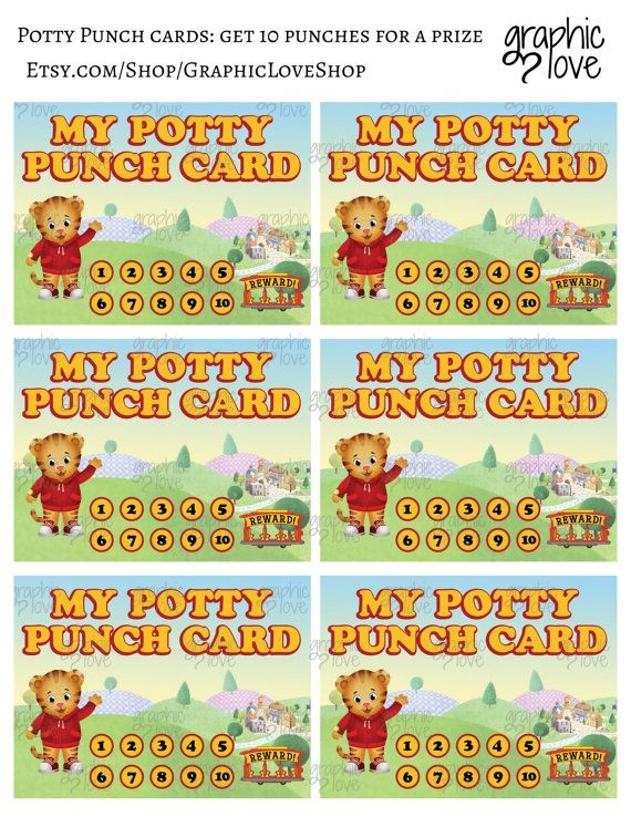 Printable Daniel Tiger Grr Iffic Potty Training Chart Free Potty Training Chart Potty Chart Potty Training Tips