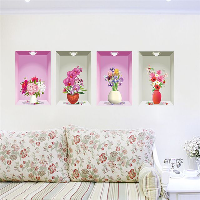 Floral Wall Stickers Posters Wall Art