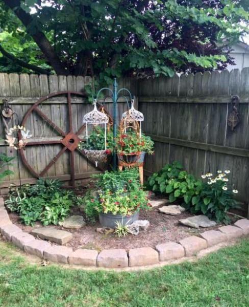 Brenda Townzen's quaint corner is part of Corner landscaping -