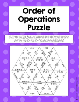 Order of Operations Puzzle | math | Adding decimals, Order