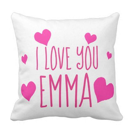 Valentine Hearts Personalized I Love You Throw Pillow - valentines ...