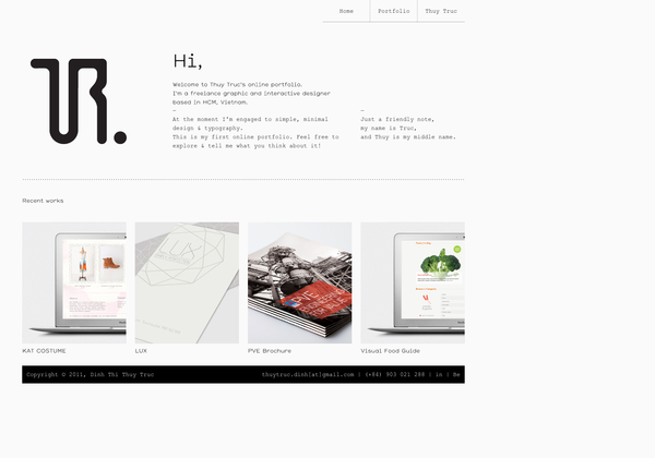 Http Thuytruc Me Via Url2pin Minimal Web Design Web Design Website Design Inspiration