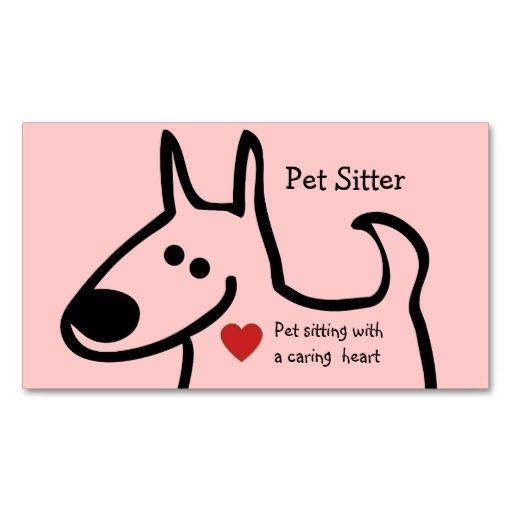 Cute Pet Sitter Business Cards Pet Care Business Cards