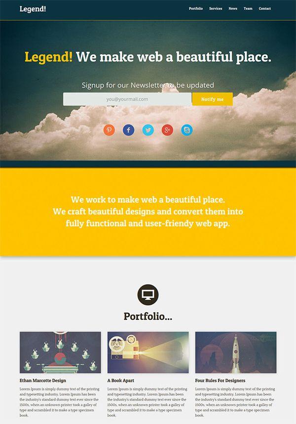 Free High-Quality PSD Website Templates