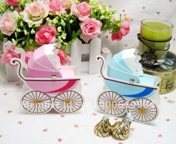 Bulk Candy for Baby Shower | Wholesale DIY Folding Candy Box Party Favor Box for baby shower pink ...