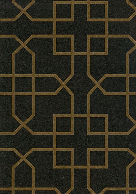Siam Trellis Wallpaper Black Wallpaper With Gold Trellis