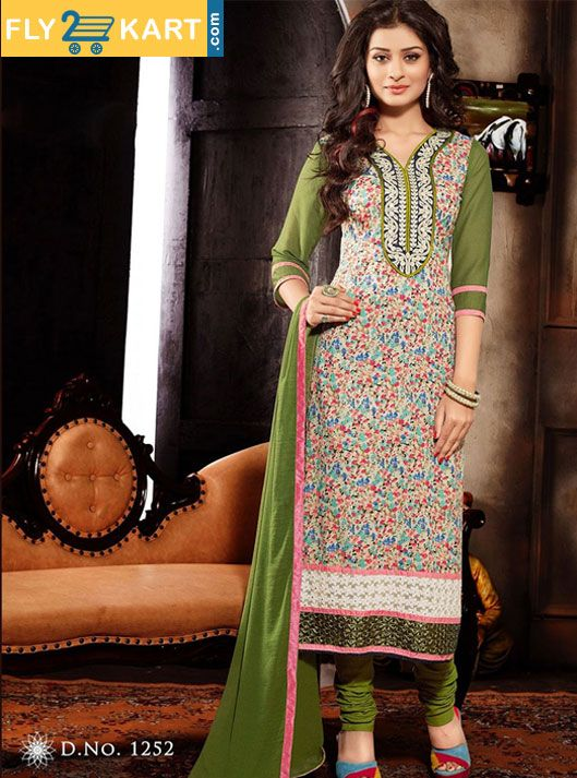 New Collection Unstitched Dress Material Embroidery Work click here for buy :http://goo.gl/yjXbB4 only Rs. 1407 with Free COD