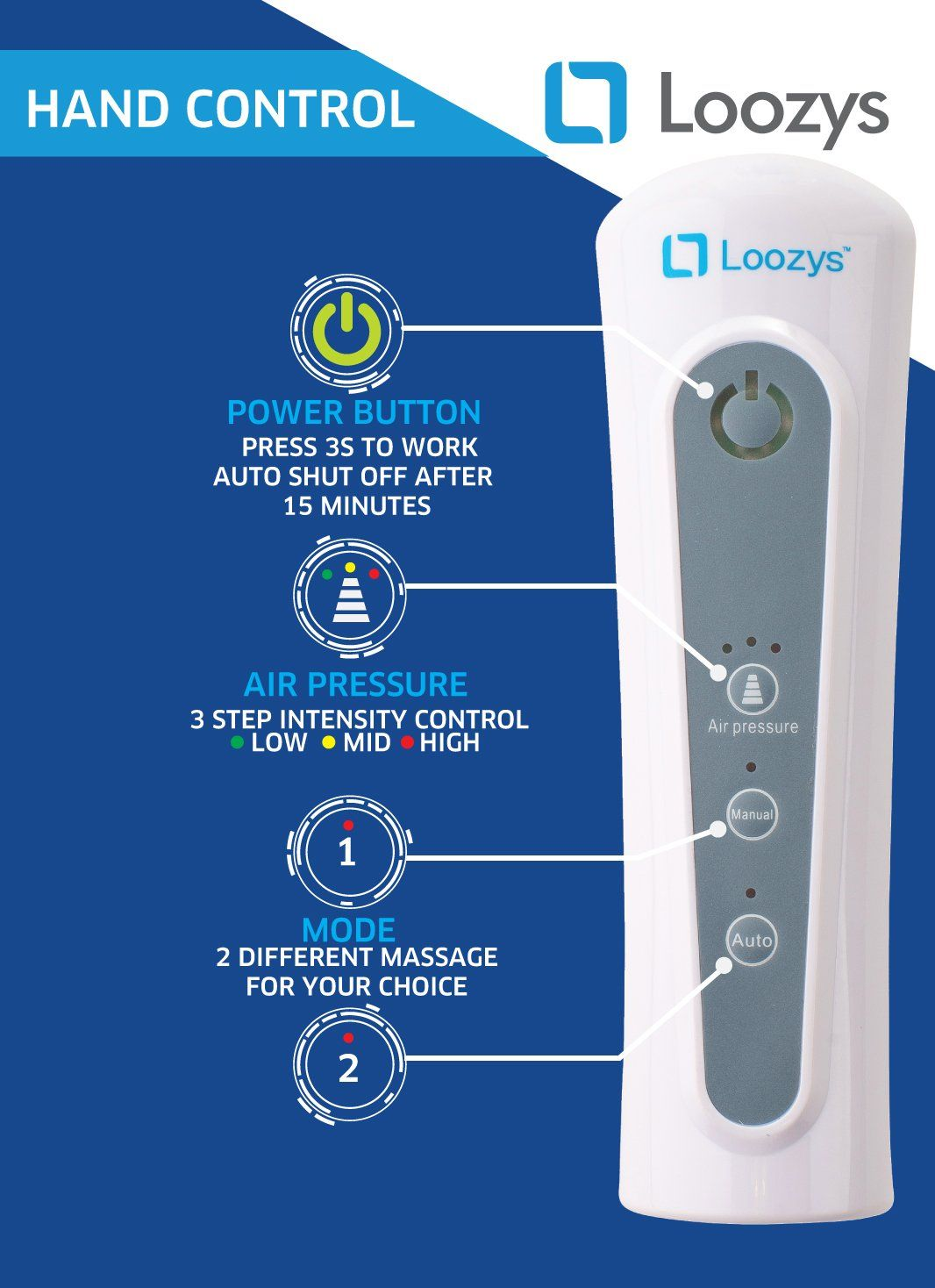 Loozys Leg Air Massager Healthcare Air Compression Leg Wrap Massage Therapy  With Carrying Bag >>> For more information, visit image link.
