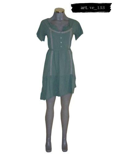 34c65446fa Vestido De Bolitas Verdes Xdye -   230.00