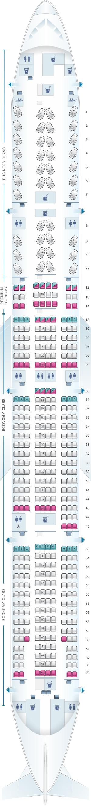 Seat Map Air Canada Boeing B777 300ER (77W) International ...