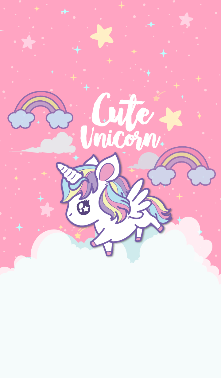 Unicorn So Cute Unicornios wallpaper, Dibujos animados