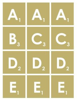photo relating to Printable Scrabble Tiles known as Scrabble Letters Printable Craft Suggestions: Overall Scrabble