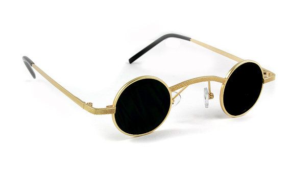02f4caf01c small round gold metal sunglasses Goth Steampunk retro Victorian ...