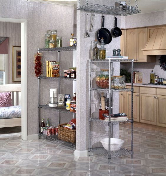 Kitchen Storage Small Spaces: Ideas For Small Kitchen Storage! Use Wall Space For Extra