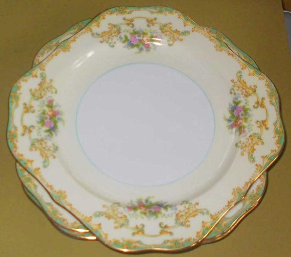 Noritake Vintage 1930s ATHENA Floral China Dinnerware Square Salad Plate other pieces available & Noritake Vintage 1930s ATHENA Floral China Dinnerware Square Salad ...
