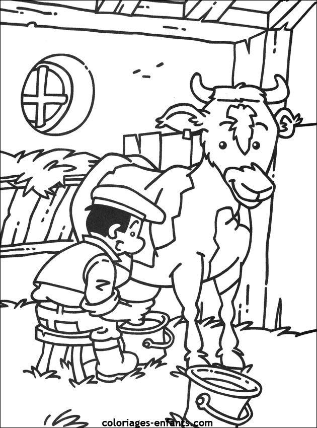 {title} (avec images) | Coloriage, Coloriage vache ...