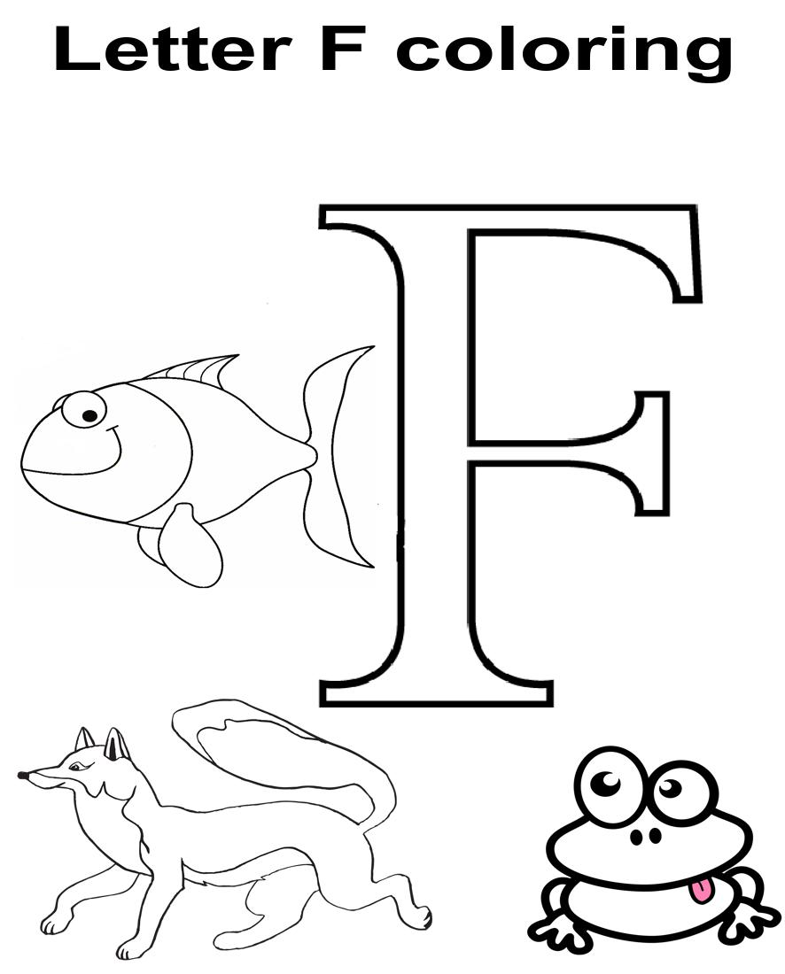 Letter F Worksheets In 2020 Kindergarten Coloring Pages Letter F Color Worksheets