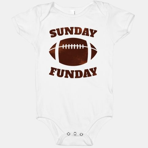 80acb9edd Start them off young with this funny one-piece perfect for sunday funday! # football #sunday #funday #sports #fall #cute #baby