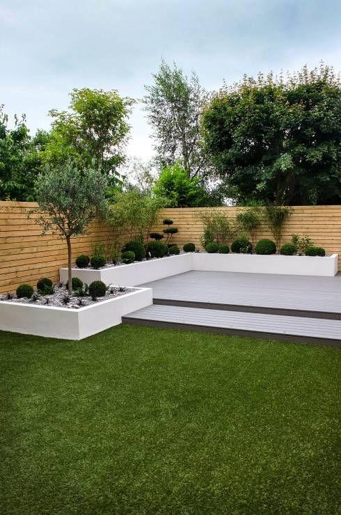 Small Low Maintenance Garden Minimalist Garden By J B Landscapes Ltd Paisajismo De Patio Patio Con Jardin Rincon De Jardin