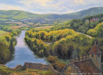 Peinture de paysage dordogne france shifiting lumi re sur for Artiste peintre dordogne