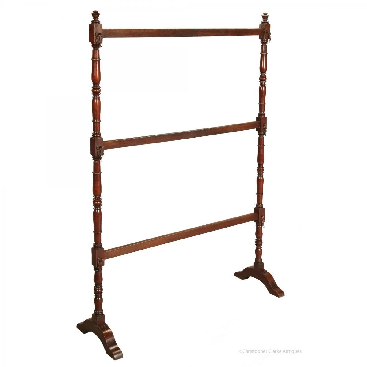Of simple construction but great use, this mahogany Rail could be used for hanging all sorts of items from uniform...