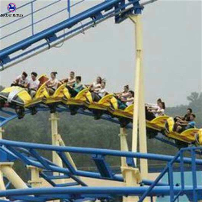Family Roller Coaster 16 Seats 8 Cars One Train Roller