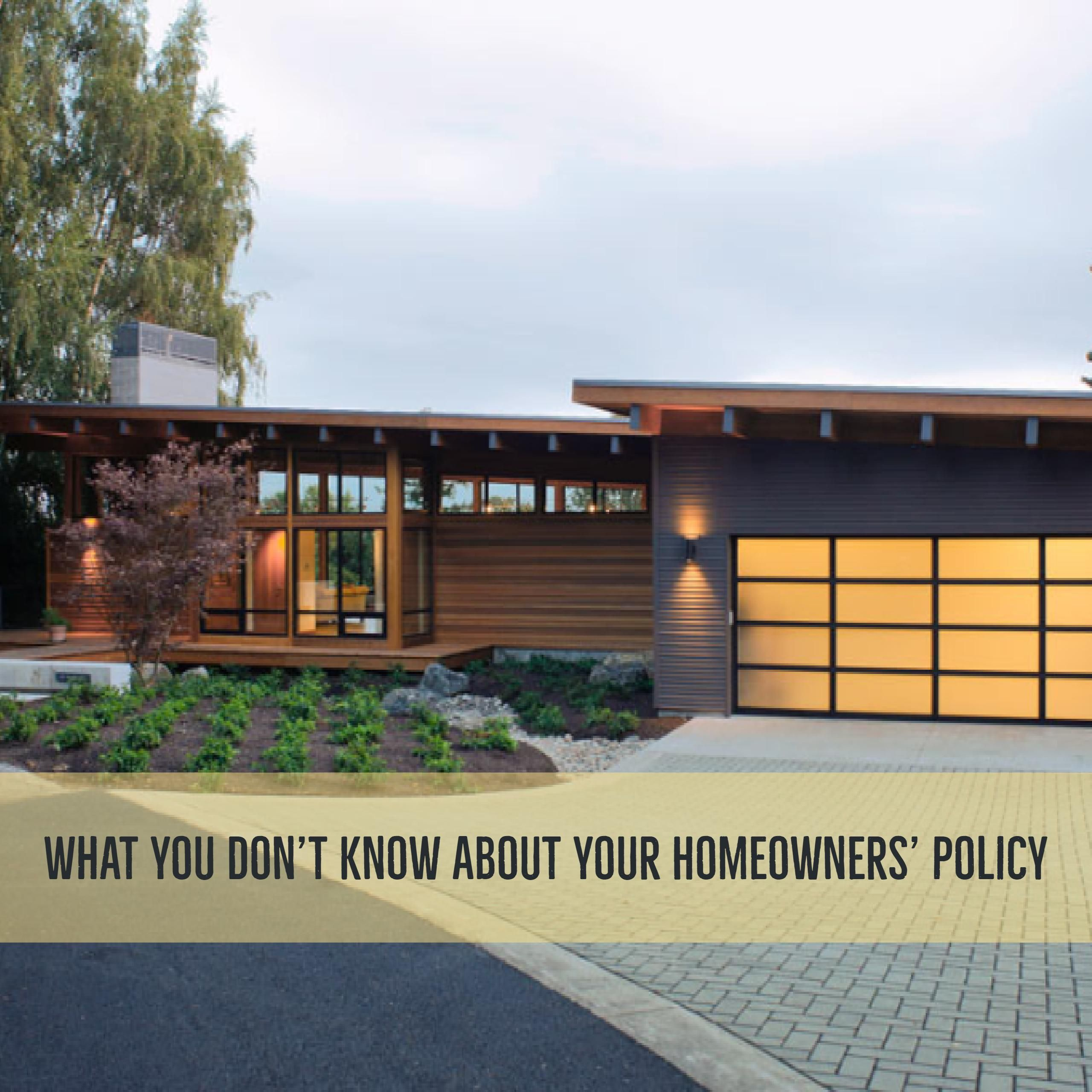 Do you know what your homeowners insurance actually