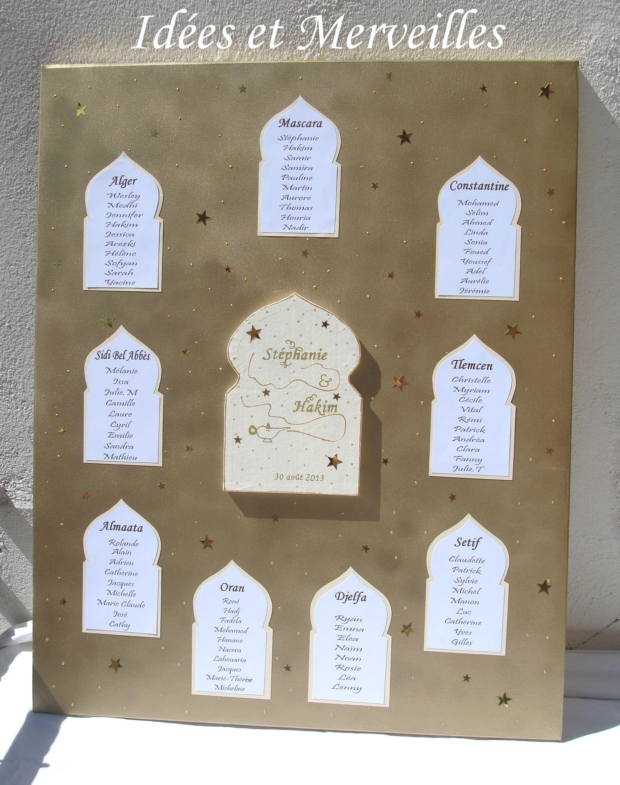 plan de table 1001 nuits oriental idees et merveilles mariage 1001 nuits pinterest. Black Bedroom Furniture Sets. Home Design Ideas