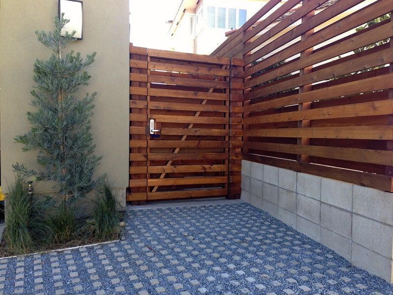 Wood Fence Designs Ideas prowells premier garden wood fence designs Beautify The Minimalist Living With Horizontal Wood Fence Horizontal Wood Fence Designs Pictures