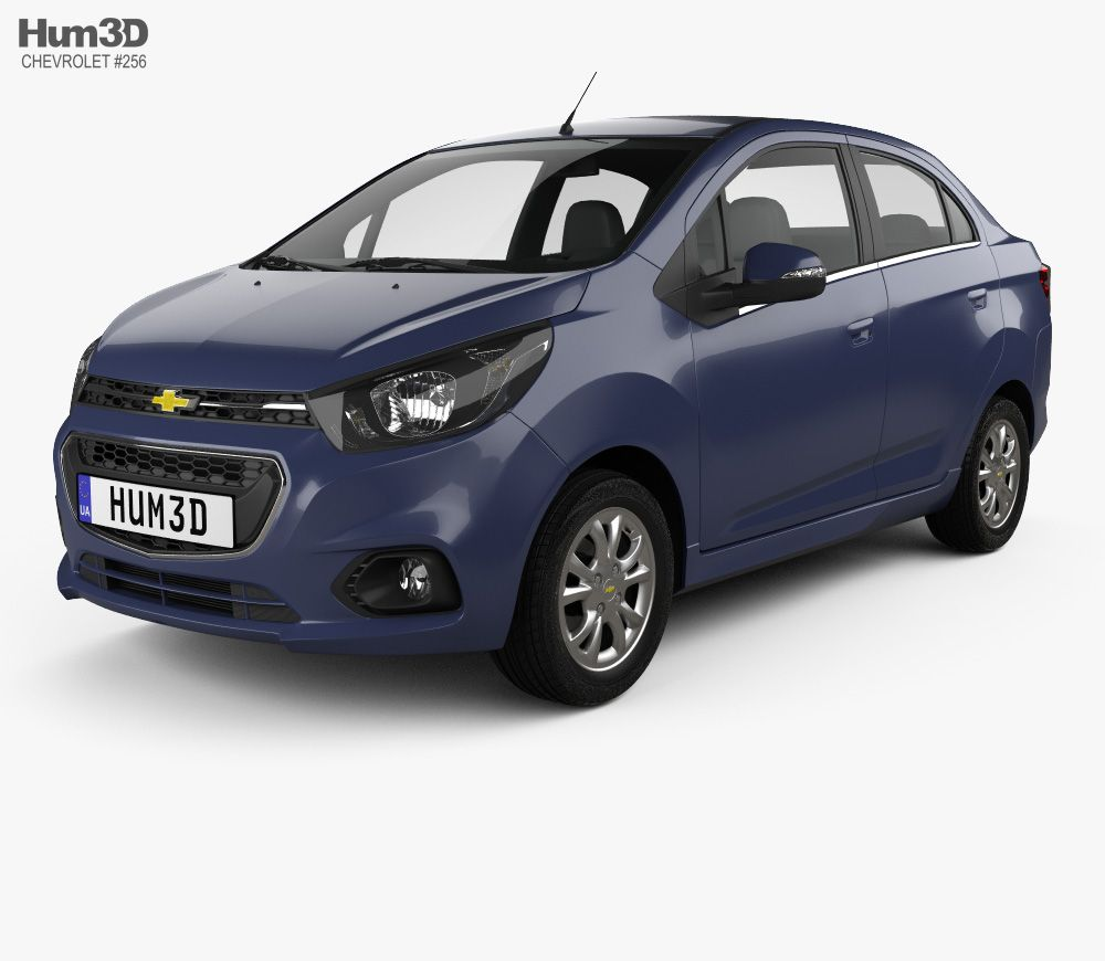 3d Model Of Chevrolet Beat Sedan 2018 Carros