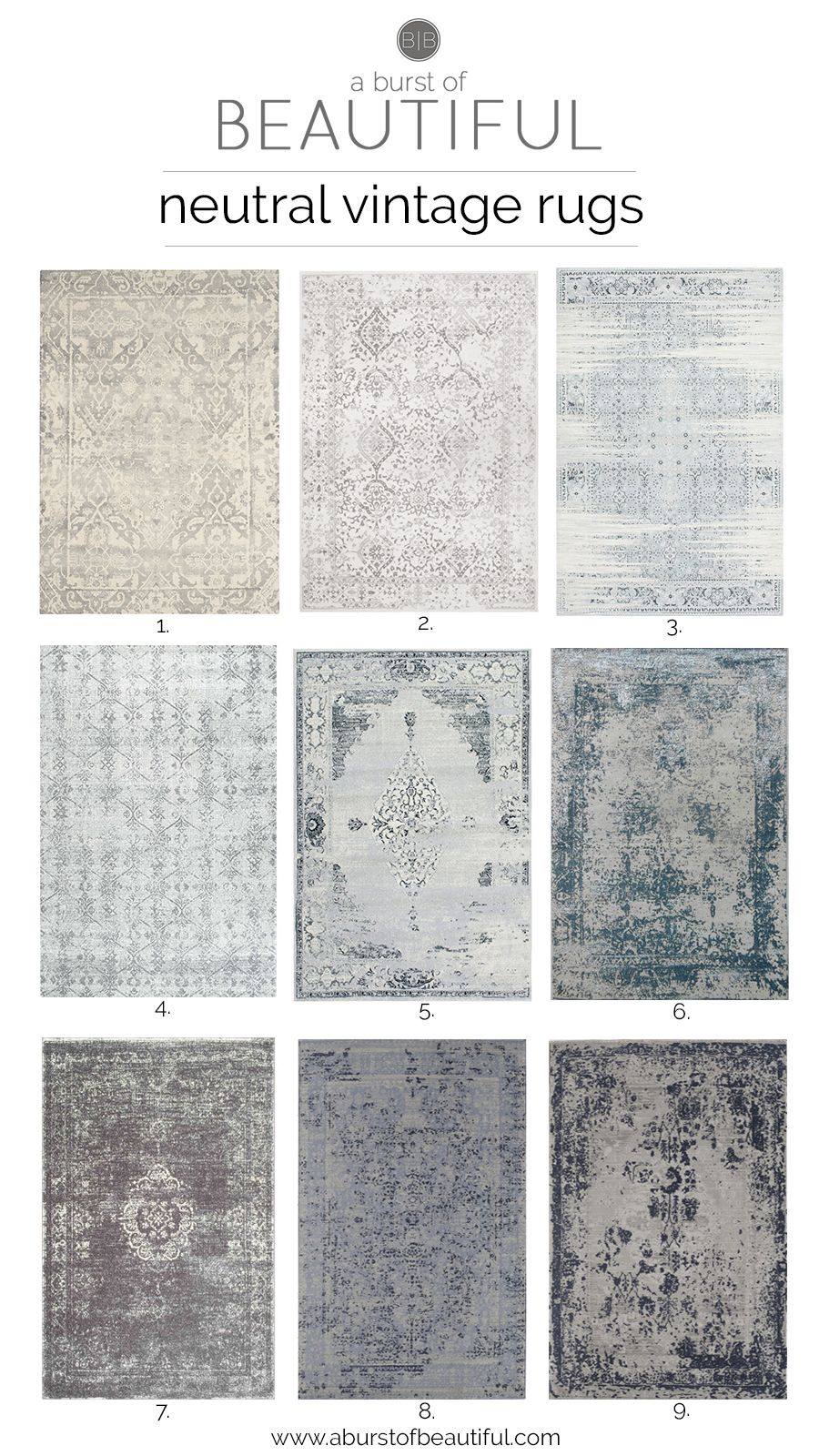 Neutral Vintage Area Rugs. Rugs In Living RoomBedroom ... Part 47