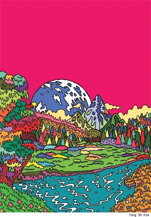 Yong Oh Kim Turns Street Fashions, Travel Landscapes and the Apocalypse into Psychedelic Cartoons [Art]