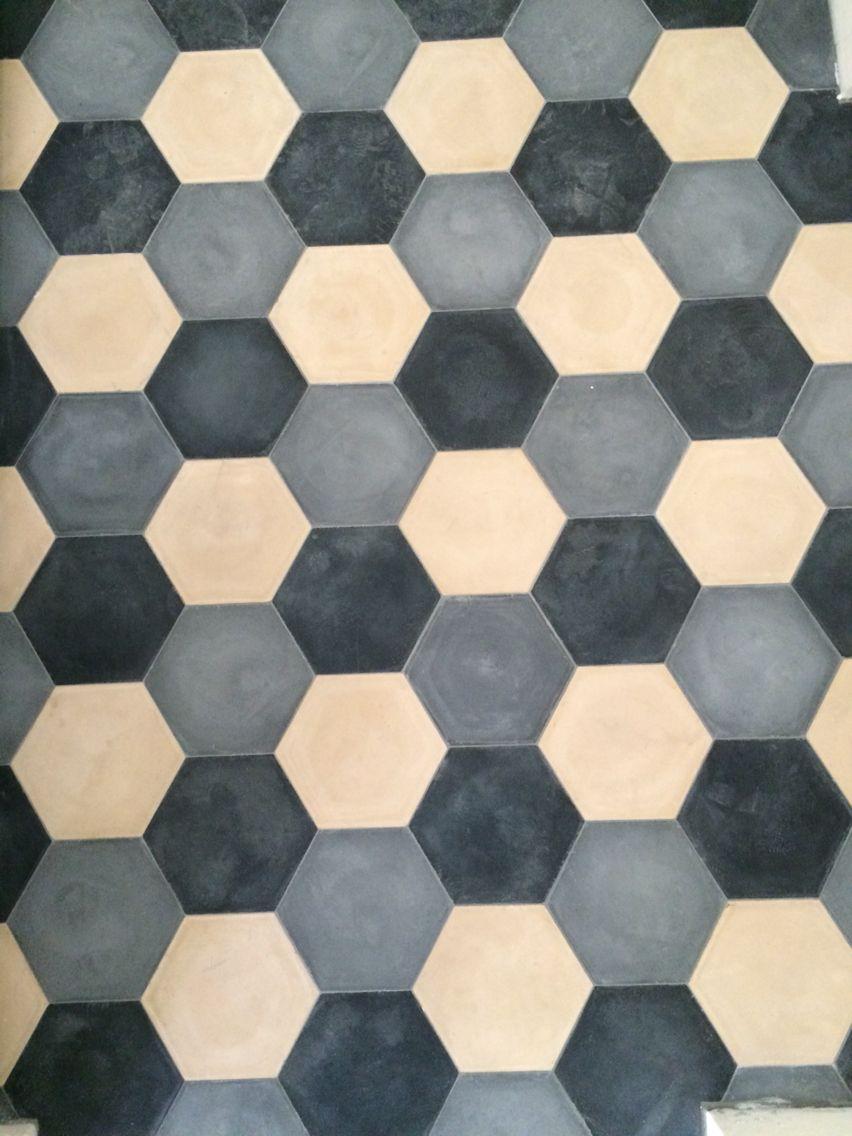 Esagoni bianco nero grigio  inspiracje  Tiles Flooring e Rugs