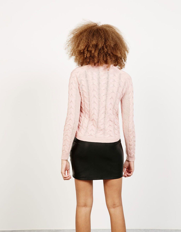 Braided jumper - Knitwear - Bershka Israel
