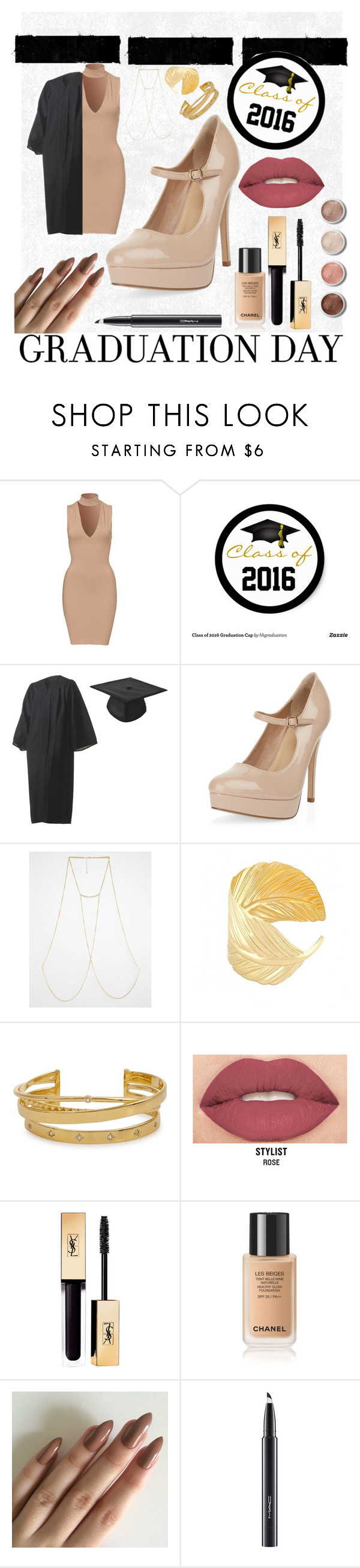 """Grad day~Sophisticated"" by demixb on Polyvore featuring New Look, Monki, Elizabeth and James, Smashbox, Terre Mère, MAC Cosmetics and graduationdaydress"