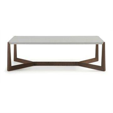 Amias 120cm Rectangular Coffee Table - Grey/Walnut