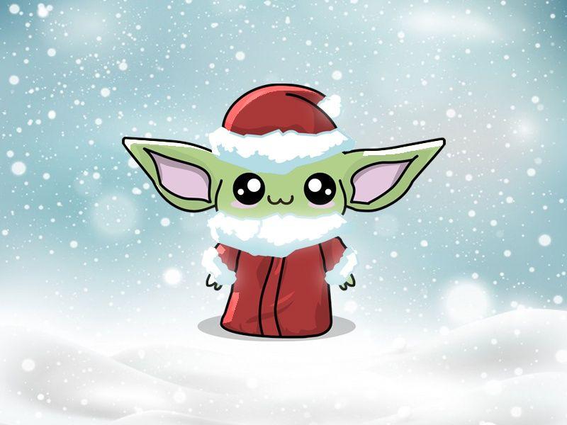 Santa Baby Yoda Star Wars Christmas Tree Yoda Wallpaper Wallpaper Iphone Cute