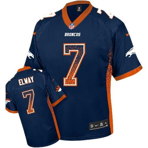Nike Broncos  7 John Elway Navy Blue Alternate Men s Stitched NFL Elite  Drift Fashion Jersey 9f3f6f862