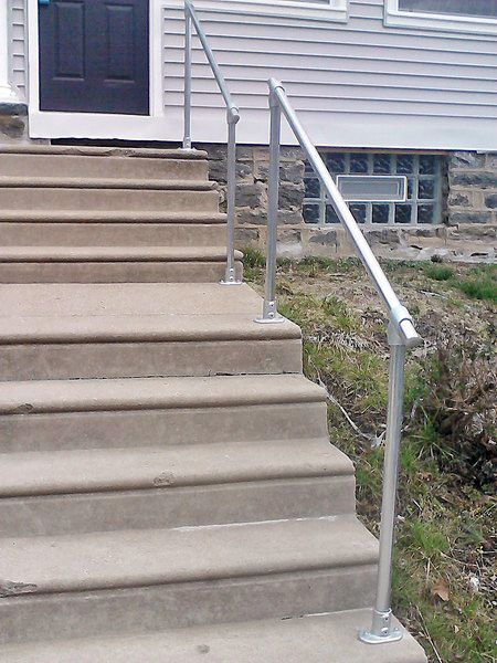 Best Railing For Concrete Steps Concrete Steps Handrails For Concrete Steps Concrete 640 x 480