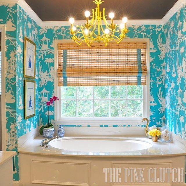 Tagged by the darling @littleblackdoor to show how I use color in my house for the #ispydesignseries.  Color and I are #BFFs for sure!  I have never met a color I couldn't fall in love with ... Ok maybe one.  This is our master bathroom from the #oneroomchallenge last year!  I fall in love with it every single time I walk into the bathroom.  The boldest decision I made and one I will never regret.  Tagging @bedfordrose @thechinoiseriecollective and @dixiedelights to join me!!!